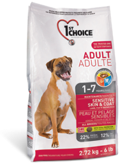 1st Choice Dry Food Lamb,Fish and Brown Rice Adult Sensative Skin&Coat For Dogs-1