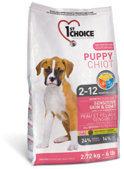 1st Choice Dry Food Puppy Sensative Skin&Coat Lamb,Fish and Brown Rice-1