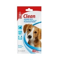 Dogit Clean Grooming Wipes - Unscented - 40 pack - 15 x 20 cm (6 x 8
