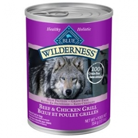 Blue Wilderness Beef & Chicken Grill wet food for dogs
