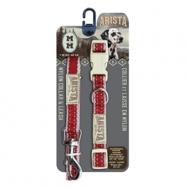 Zeus Arista Collar&Leash set *RED*-1