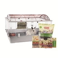 Living World Deluxe Rabbit Starter Kit - Large - 96 cm L X 57 cm W X 56 cm H (37.8