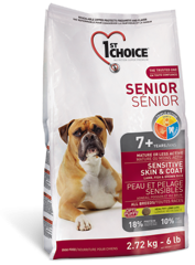 1st Choice Dry Food Senior Sensative Skin&Coat 7+ For Dogs-1