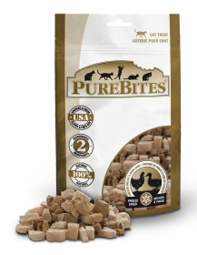 PureBites Treats  Freeze Dried Chicken Breast & Duck Liver For Cats 0