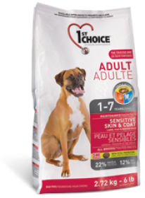 1st Choice Dry Food Lamb,Fish and Brown Rice Adult Sensative Skin&Coat For Dogs Size of Bag: 2.72 Kg0