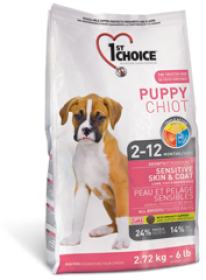 1st Choice Dry Food Puppy Sensative Skin&Coat Lamb,Fish and Brown Rice Size of Bag: 7Kg0