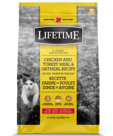 LIFETIME Chicken And Turkey Meal & Oatmeal Recipe Cat Food 0