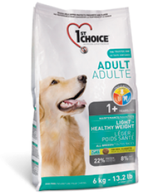 1st Choice Dry food  Ligth&Healthy Weigth For Dogs Size of Bag: 2.72 Kg0