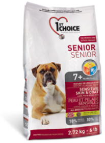 1st Choice Dry Food Senior Sensative Skin&Coat 7+ For Dogs Size of Bag: 15 kg0
