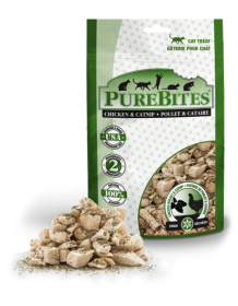 PureBites Treats Freeze Dried Chicken Breast & Catnip Treats For Cat 0