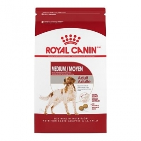 Royal Canin Dry Food medium breed Adult dogs Size of bag: 30 lb0